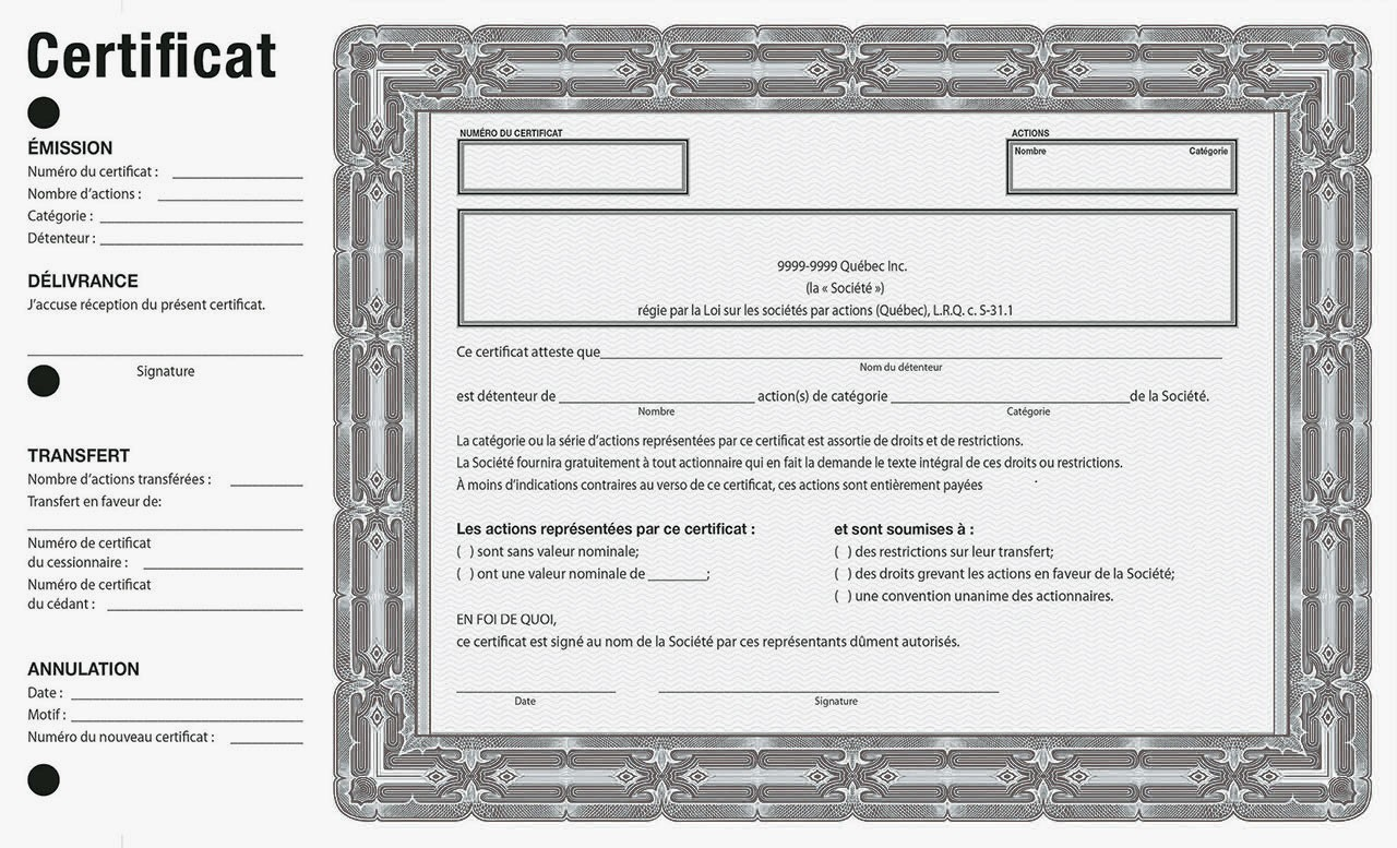 Corporate Accessories Share Certificates Provincial French Black Appelleswellca