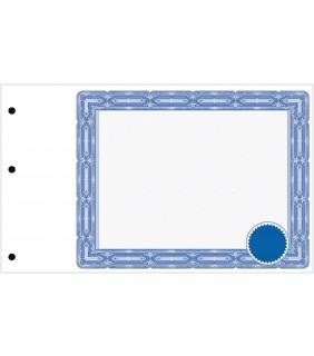 sans texte avec sceau, bleu
