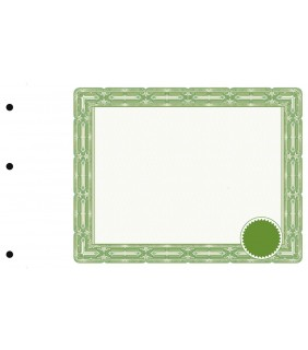 sans texte avec sceau, vert