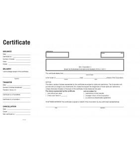 Gabarit certificat provicial anglais