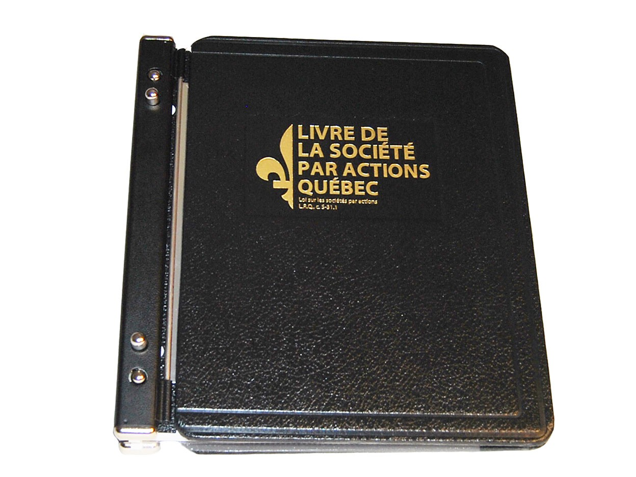 Minute book - quebec French