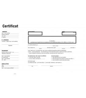 Gabarit certificat fédéral français