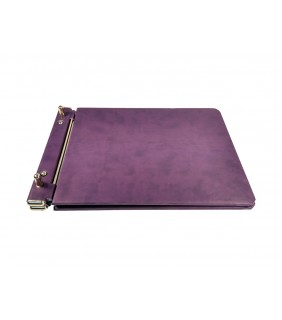 Empty Notary Repertory Book Purple