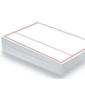 Papier notarié prestige 100% coton ligné rouge PN030000