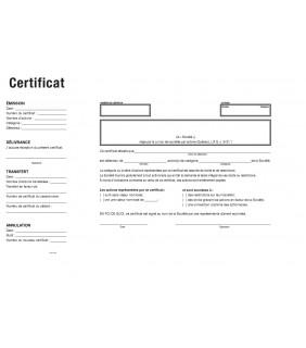 Gabarit certificat provincial français